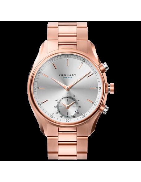Kronaby Sekel 43 mm Hybrid Smartwatch rose gold, steel strap, unisex