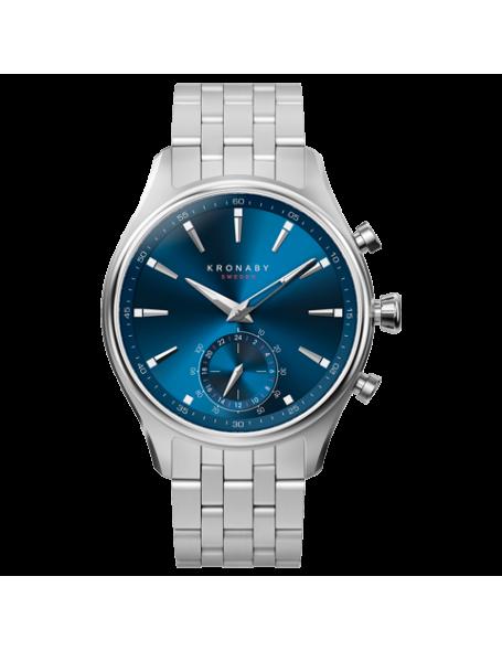 Kronaby Sekel 41 mm Hybrid Smartwatch blue, steel strap, unisex