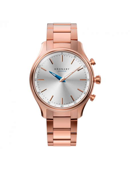 Kronaby Sekel 38 mm Hybrid Smartwatch rose gold, steel strap, unisex
