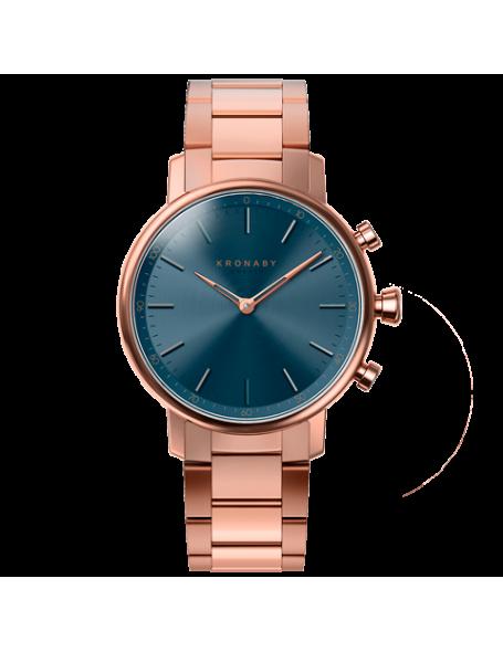 Kronaby Carat 38 mm Hybrid Smartwatch blue, steel strap, unisex
