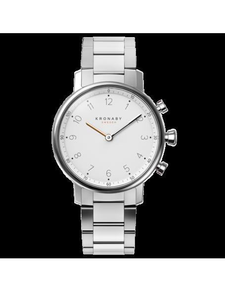 Kronaby Nord 38 mm Hybrid Smartwatch white, steel strap, unisex